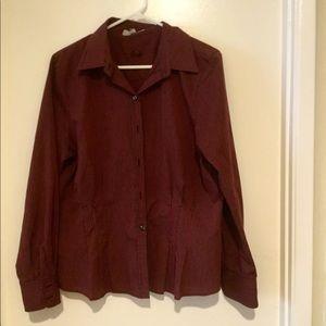 Button down Shirt by Foxcroft Size 14